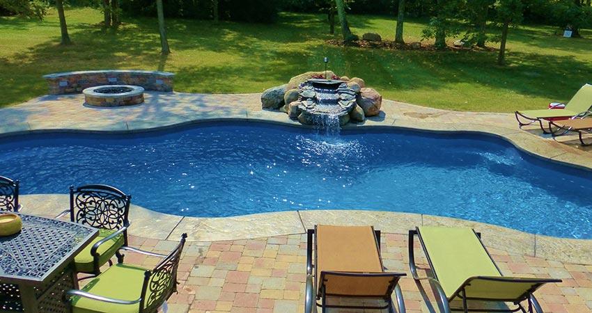 Cincinnati Fibergl Pool Construction